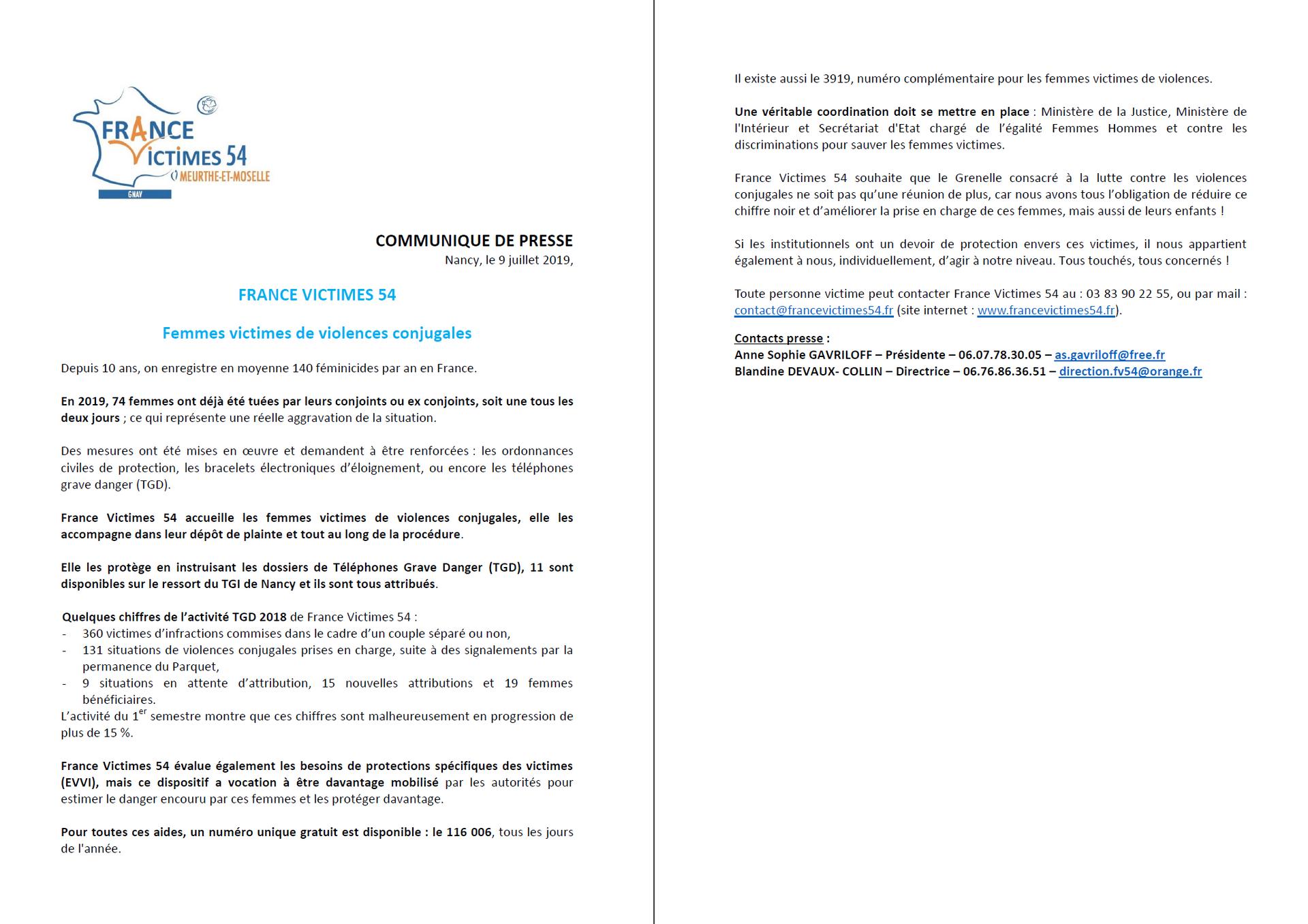 201907 - Communiqué de Presse France Victimes 54