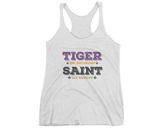 Louisiana Tiger on Saturday Saint on Sunday Gameday Tank