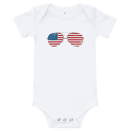 American Flag Aviator Infant Bodysuit/Onesie