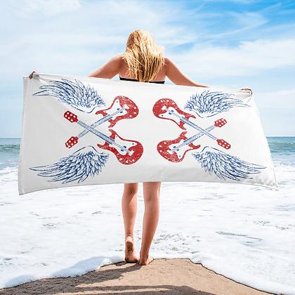 Vintage Guitar Wings Beach Towel
