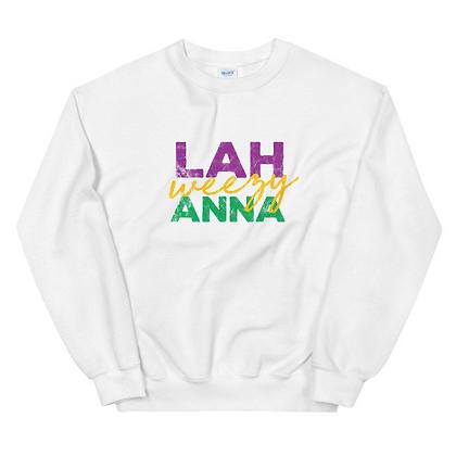 Lah Weezy Anna (Louisiana) Mardi Gras Unisex Sweatshirt