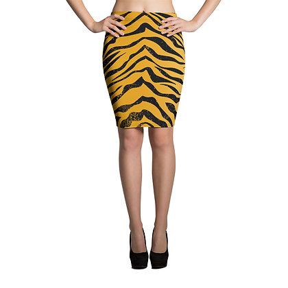 Tiger Stripe Pencil Skirt