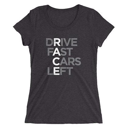 RACE - Drive Fast Cars Left Ladies' Short Sleeve T-shirt