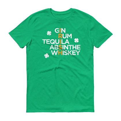 St. Patrick's Day IRISH Alcohol Short-Sleeve T-Shirt