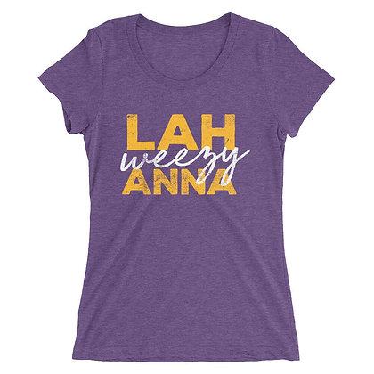 Lah Weezy Anna Ladies Short Sleeve Tee