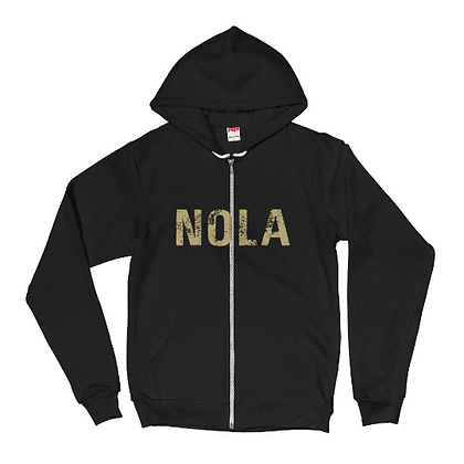 NOLA New Orleans Louisiana Zip Up Hoodie