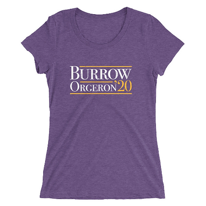 Burrow Orgeron 20' Presidential Ladies Short Sleeve Tee