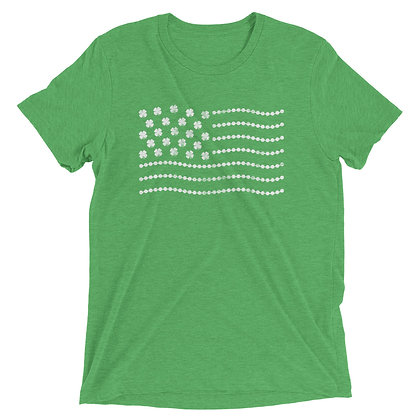 St. Patrick's Day Shamrock/Bead Flag Tee