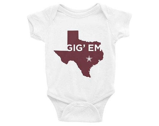 Texas Aggies Infant Bodysuit/Onesie