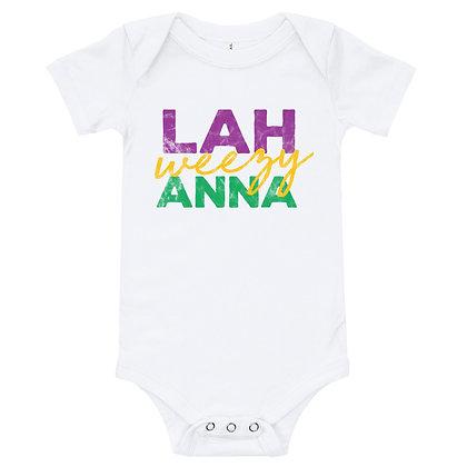 Lah weezy Anna (Louisiana, Mardi Gras)  Infant Bodysuit/Onesie