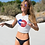 Thumbnail: Red White & Blue Lips/Kisses Crop Top