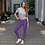 Thumbnail: Purple & Gold Plaid Leggings - Adult