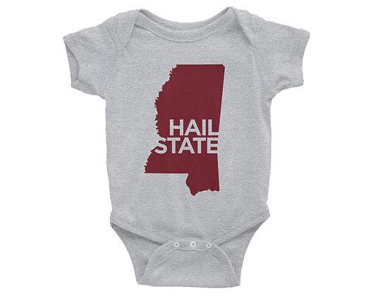 Mississippi Hail State Infant Bodysuit/Onesie
