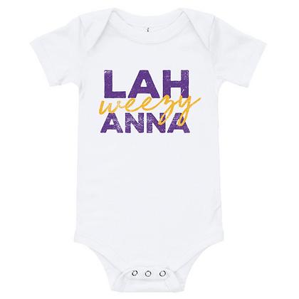 LSU Purple & Gold Lah weezy Anna (Louisiana) Bodysuit/Onesie