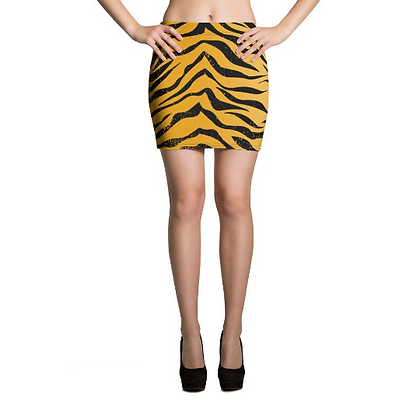 Tiger Stripe Mini Skirt