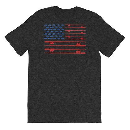Just Fish Men's Tee - American Flag