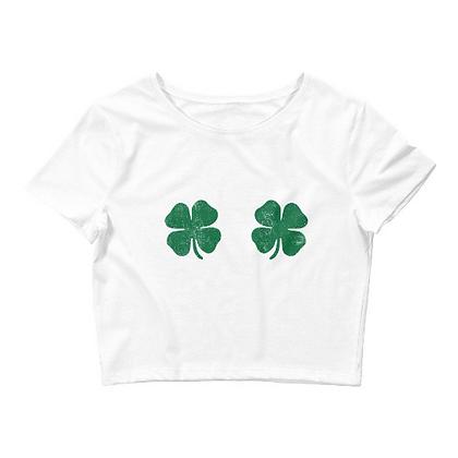 St. Patrick's Day Shamrock Bikini Crop Top