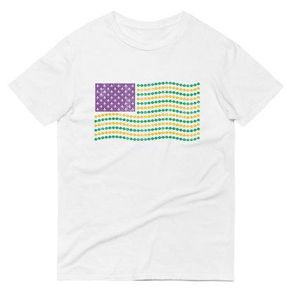 Mardi Gras American Flag Tee