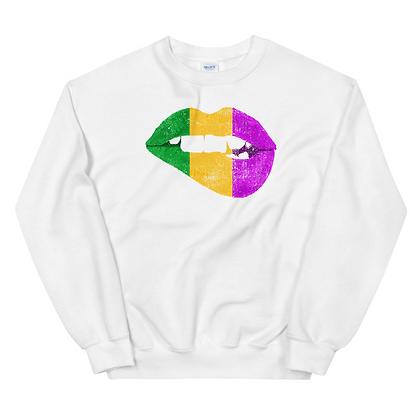 Mardi Gras Kisses/Lips Unisex Sweatshirt
