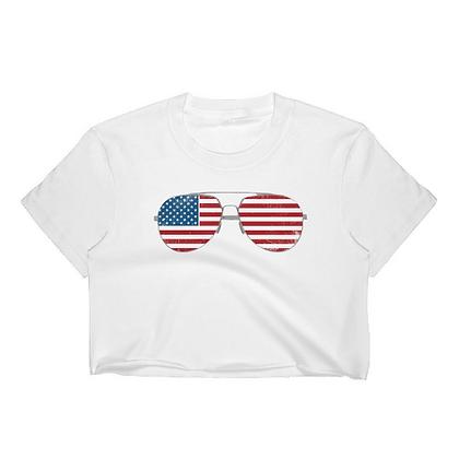 American Flag Aviator Crop Top
