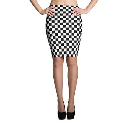 Checkered Flag Racing Skirt - mini