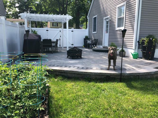 Raised patio