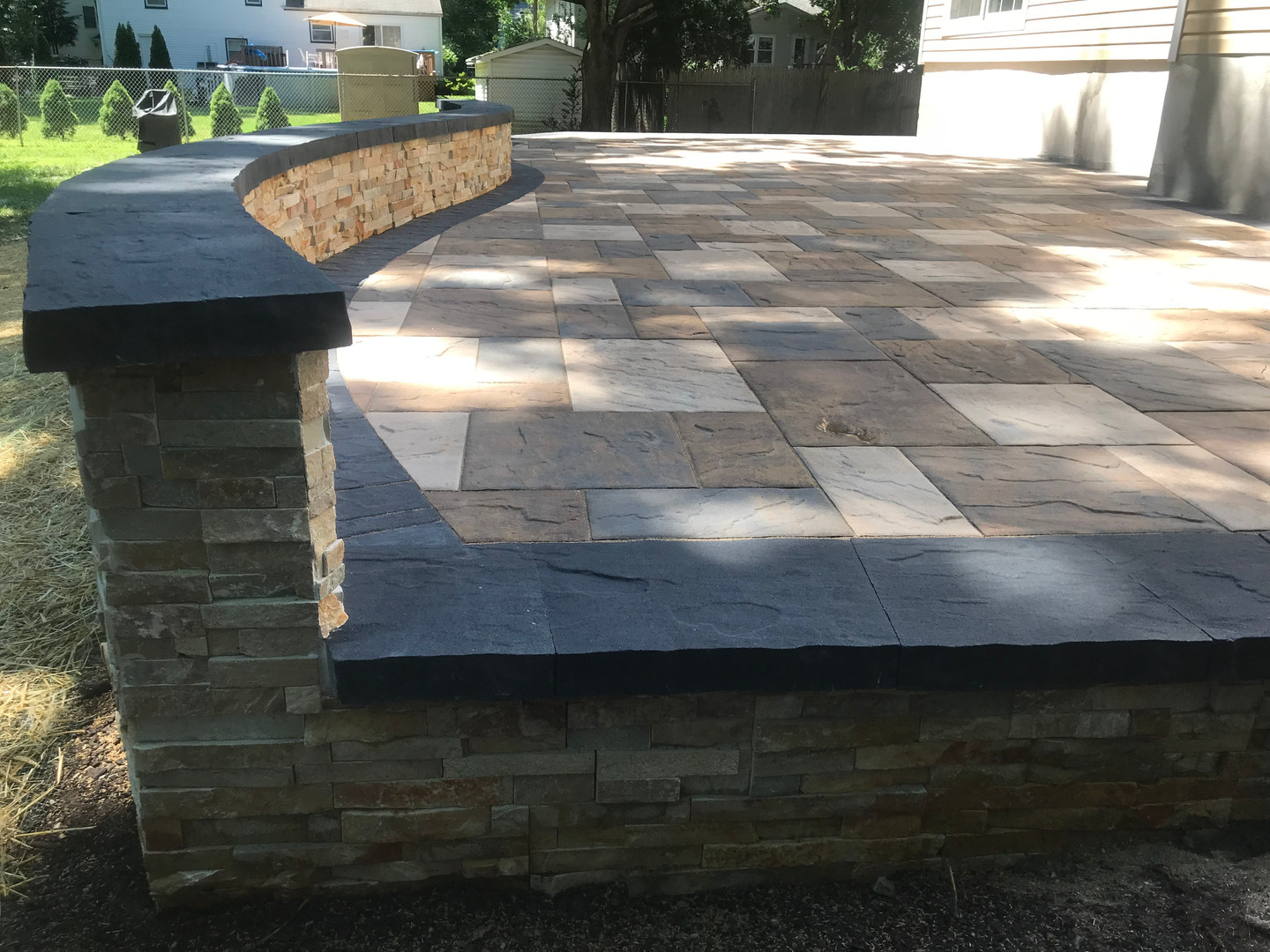 Raised Patio & seating wall