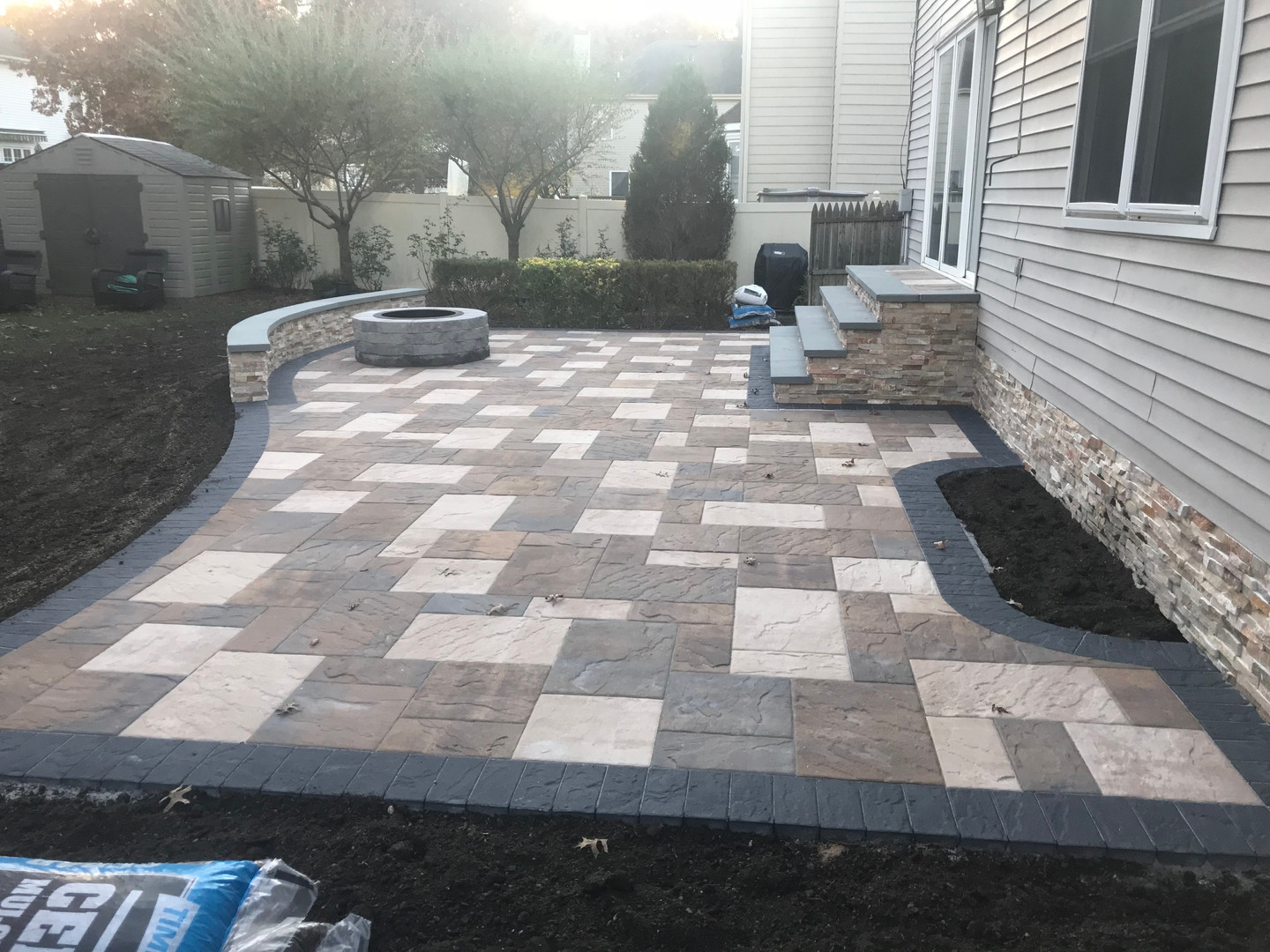 Patio with 3 different color blends