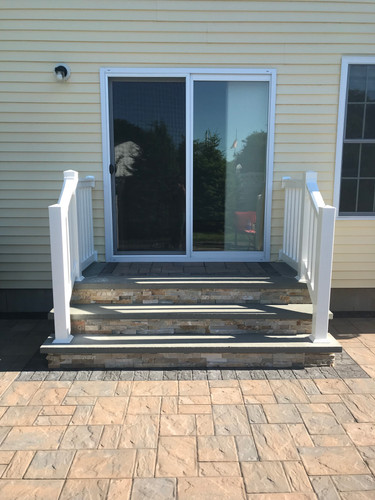 New steps with vinyl railings