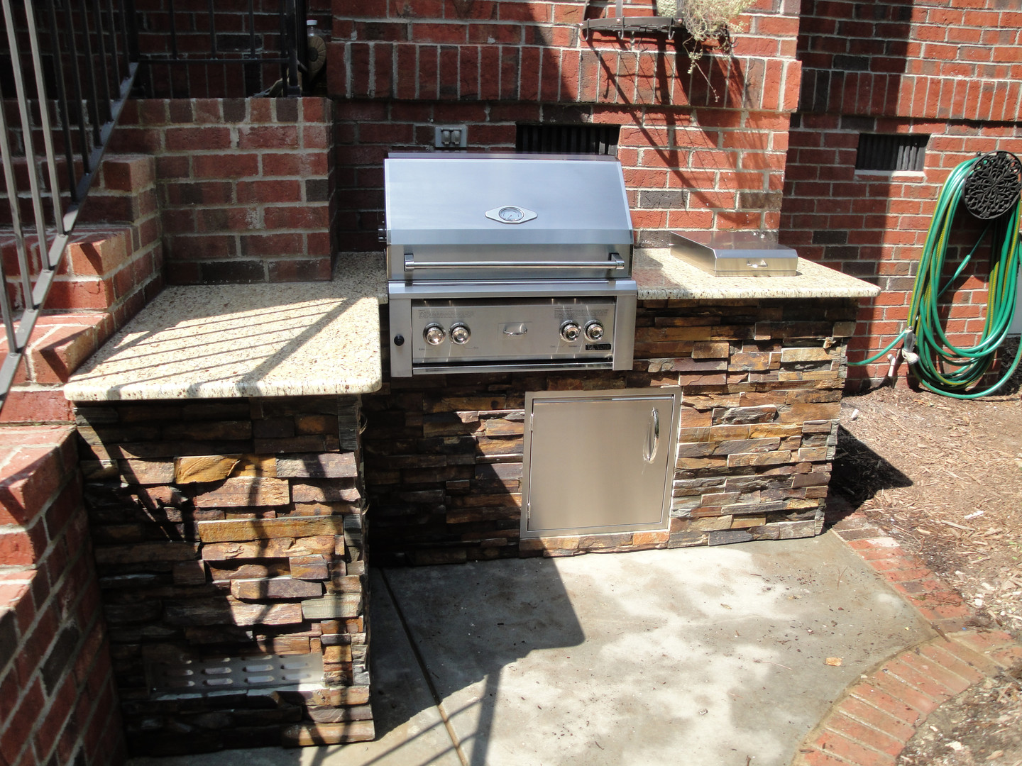 Small outdoor kitchen