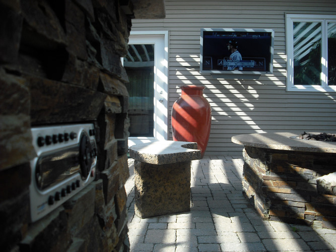 Outdoor stereo with TV