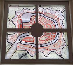 gebrandschilderd glas-in-lood raam