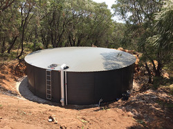 Tennis Court Rainwater Storage