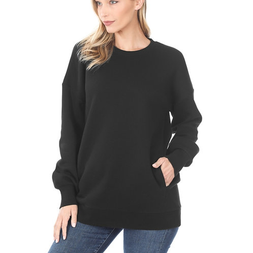 Black Pocket Sweatshirt