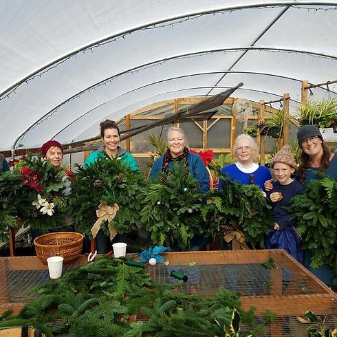 Holiday Wreath Workshop Saturday, December 7 @ 3pm