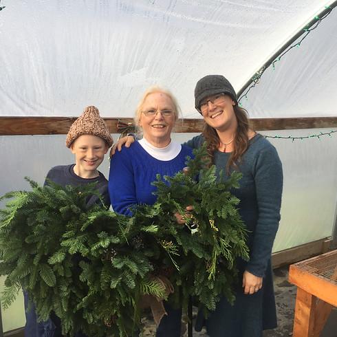 Holiday Wreath Workshop Saturday, December 8th @ 1:00 pm