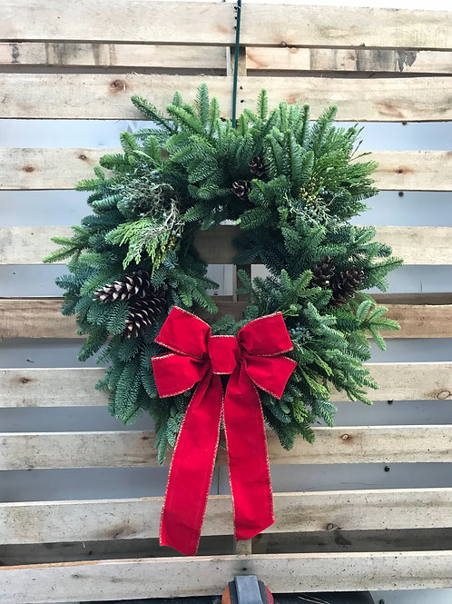 """The Classic"" Holiday Wreath"