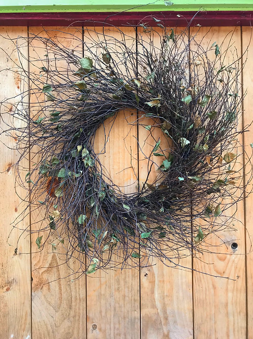 Birch Wreath 27""