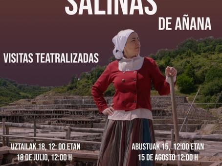 En Julio: visitas teatralizadas en Salinas de Añana