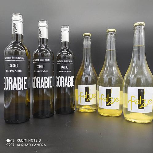 LOTE: 3 botellas Txakoli y 3 botellas de Falzue