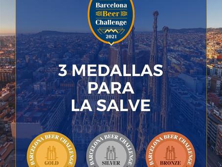 La cerveza vasca, La Salve, recibe 3 medallas en Barcelona Beer Challenge