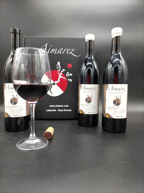Lote: 3 botellas Vino de Autor Aimarez