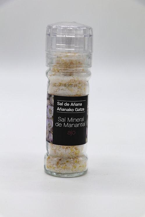Molinillo de Sal Mineral de Manantial con Ajo (Sal de Añana)