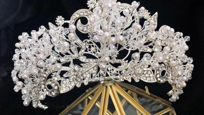 Coroa de Noivas em Cristais Tchecos - Crystal