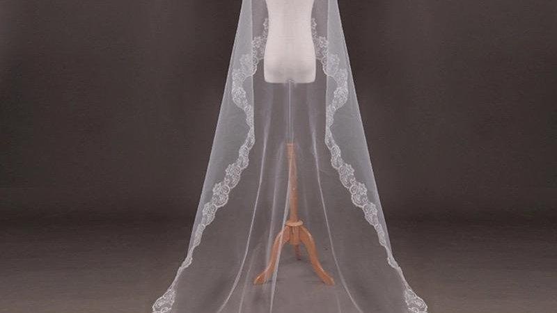 Véu de Noiva - 3 metros (Branco Ou Off White)