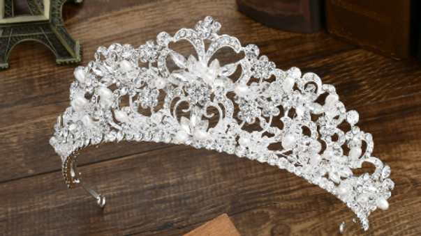 Coroa de Noivas em Zircônia - Fancy
