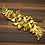 Thumbnail: Pente de Noiva com folhas e strass em base prata - Universe Within Gold