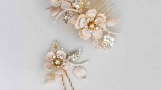 Pente e Pin - Floral