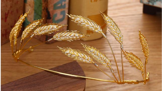 Coroa/Tiara - Trigo Dourado