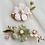 Thumbnail: Pin de Noivas em Flores Rosas e/ou Verdes Esmaltadas e Zircônia Cúbic